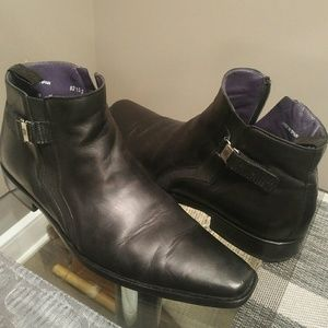 Mezlan Shoes - Mezlan Black Leather Boots / Shoes (size 9)